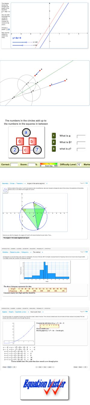 MathsNet GCSE Screenshots