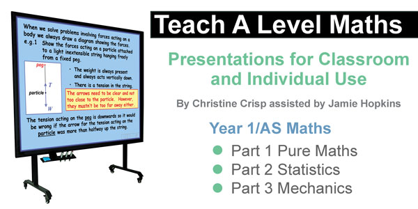 Teach A Level Maths from 2017: Presentations for Classroom and Individual Use