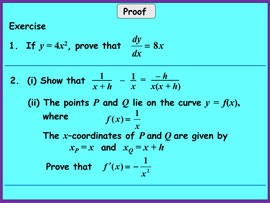 An example of greater emphasis on proof